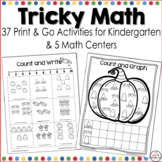 Halloween Math Worksheets for Kindergarten
