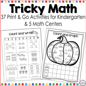 Halloween kindergarten worksheets and centers