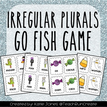 """Tricky Plural Nouns """"Go Fish"""" game"""