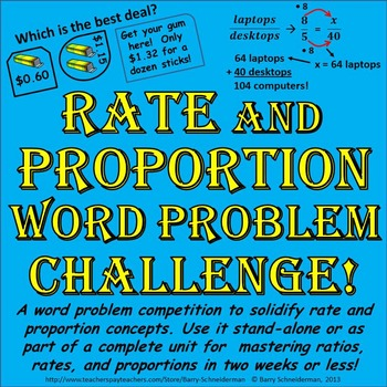 Proportions word problems activity teaching resources teachers pay proportion word problems ibookread Read Online