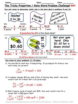 Balanced Equation Worksheet Word Proportion Word Problems By Barry Schneiderman  Tpt Subtraction 2 Digit Numbers Worksheet Pdf with Printable Literacy Worksheets Proportion Word Problems L Blend Worksheets Pdf