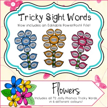 Sight Word Flowers - Editable