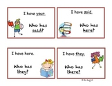 Tricky Sight Word I have-Who has? Game