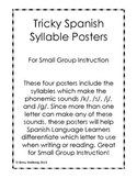 Tricky Spanish Syllable Posters