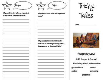 Tricky Tales Trifold - California Treasures 5th Grade Unit 3 Week 3