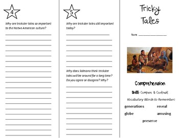 Tricky Tales Trifold - Treasures 5th Grade Unit 3 Week 3 (2011)
