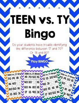 Tricky Teen BINGO