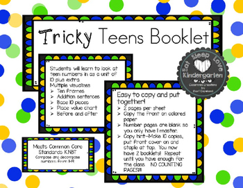 Tricky Teen Numbers Booklet