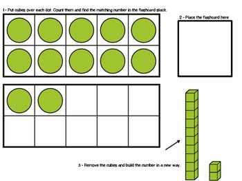 Decomposing Teen Numbers with Place Value Mats
