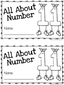 Tricky Teens 11-20 --- Interactive Number Books --- Teen Numbers 11-20