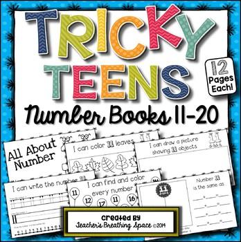 Tricky Teens 11-20 --- Interactive Number Books --- Teen N