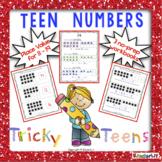 Teen Numbers For Tricky Teens - 3 No-Prep Workbooks