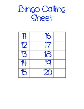 Tricky Teens- Bingo Game