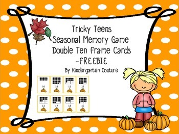 Tricky Teens Fall Memory Game