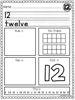 Tricky Teens Learning Packets {Numbers 11-20}
