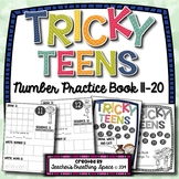 Tricky Teens Number Book --- Teen Numbers 11-20 --- Draw, Write and Eat!