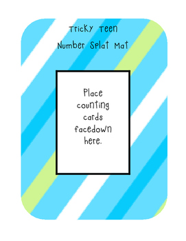 Tricky Teens Number Splat (A teen number matching practice)
