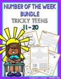 Tricky Teens number of the Week Bundle: numbers 11-20 - worksheets/printables