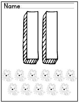 Tricky Teens number of the Week Bundle: numbers 11-20 - worksheets/printables