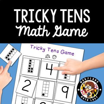 Tricky Tens Game - Ways to Make Ten. PreK, K, 1st, 2nd, 3rd Grade