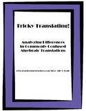 Tricky Translating: An Algebraic Writing Prompt