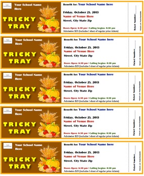 Tricky Tray - Print your own tickets