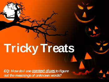 Tricky Treats Context Clues Powerpoint