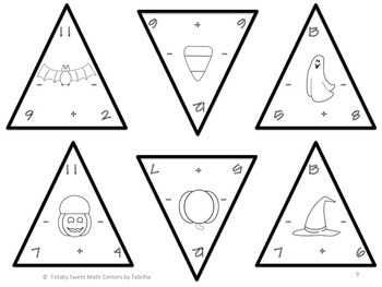 Tricky Triangle- A Halloween Addition and Subtraction Center