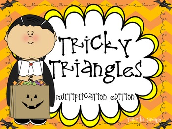 Tricky Triangle- A Halloween Multiplication  Center