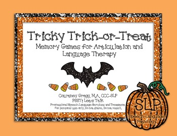 Speech Therapy: Tricky Trick-or-Treat Memory Game