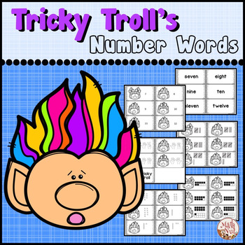 """Number Words """"Word Form and Standard Form"""" (Place Value Center)"""