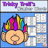 """Place Value Center """"Word Form and Standard Form"""" (Number Words) Troll Theme"""