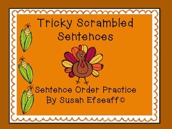 Literacy Centers - Tricky Turkey Sentences