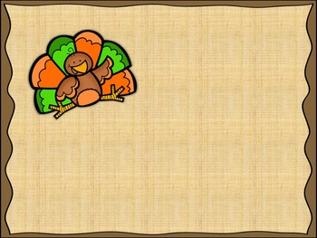 Tricky Turkey Template  - Create Your Own Game