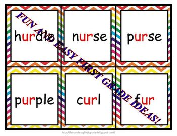 """Tricky Turtle Matching Fun with """"ur"""" Words (Common Core Aligned)"""