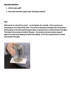 Tricky Water Lab with QuestionsFREE