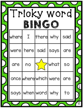 Tricky Word Bingo {CKLA Unit 9}