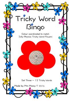 Tricky Word Bingo/Sight Word - Set 3 - Jolly Phonics