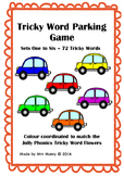 Tricky Word/Sight Word Car Parking Game - Sets 1 to 6 - 72