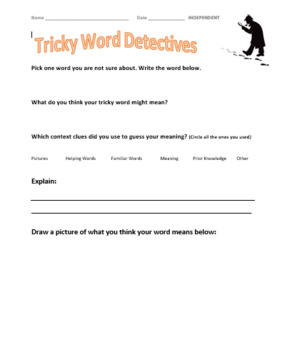 Tricky Word Detectives