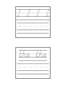 Tricky Word Dry Erase Cards