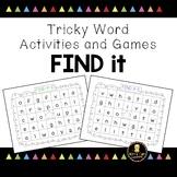 Tricky Word Games - Find It! - Jolly Phonics Aligned