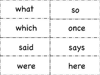 Tricky Word Flashcards