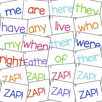 Tricky Word Games - ZAP! - Jolly Phonics Aligned