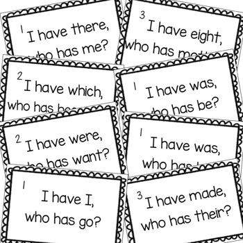 Tricky Word Games - I have, who has? - Jolly Phonics Aligned