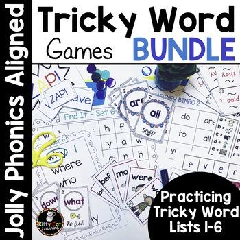 Tricky Word Games - MEGA BUNDLE - Jolly Phonics Aligned!