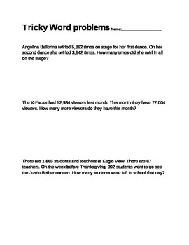 Tricky Word Problems
