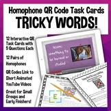 Homophone Video QR Code Activities Self-Guided for In Clas