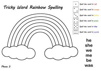 Tricky Word Rainbow Spelling