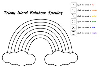 tricky word rainbow spelling by the teacher traveller tpt. Black Bedroom Furniture Sets. Home Design Ideas